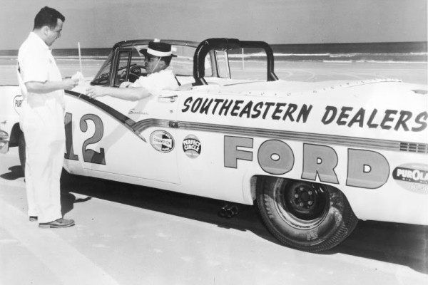 Joe Weatherly 1956 Ford 12 Daytona