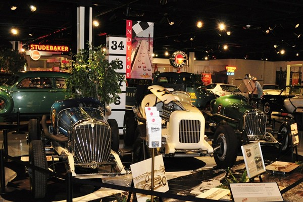 Three Studebaker Indy cars