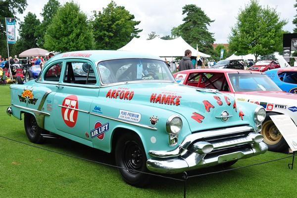 1953 Oldsmobile Deluxe 88 Sedan NASCAR racer R.E. Olds Museum
