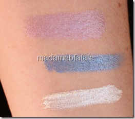 1st row cream shadow swatch