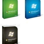 """Las """"cajitas retail"""" de Windows 7"""