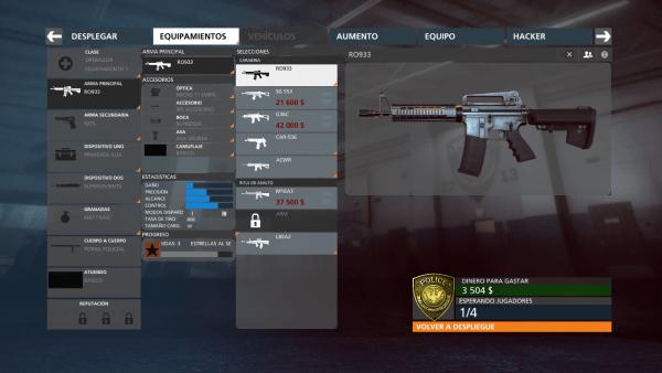 Para desbloquear mas armas en el multijugador debes comprarlas con dinero reunido jugando en linea. Asi podras gastar en las cosas que tu estimes necesario para el combate