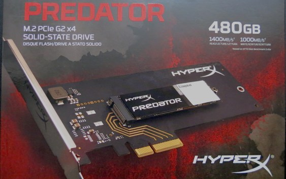 [VIDEO] Unboxing SSD HyperX Predator 480GB PCIe