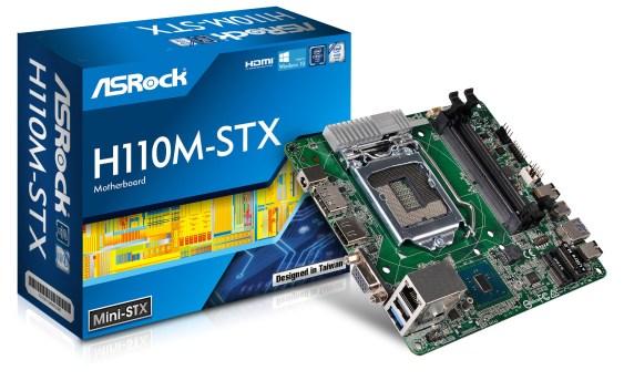 ASRock presenta el primer Motherboard Mini-STX basado en el Chipset H110: H110M-STX