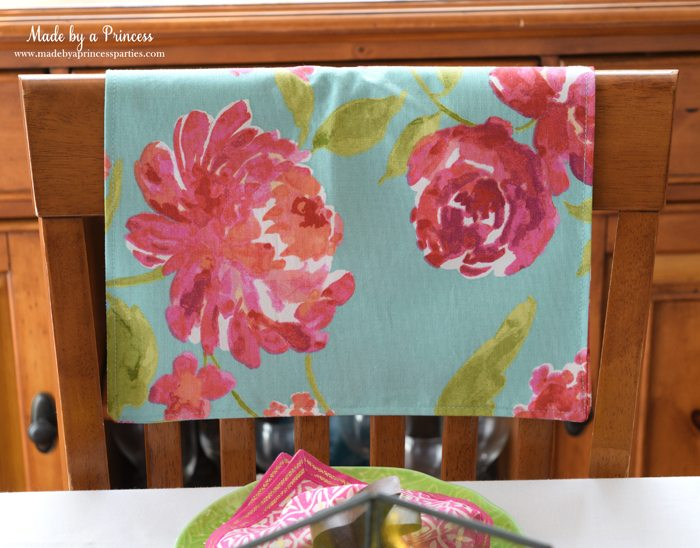 Easy Easter Entertaining Ideas placemat as chairback