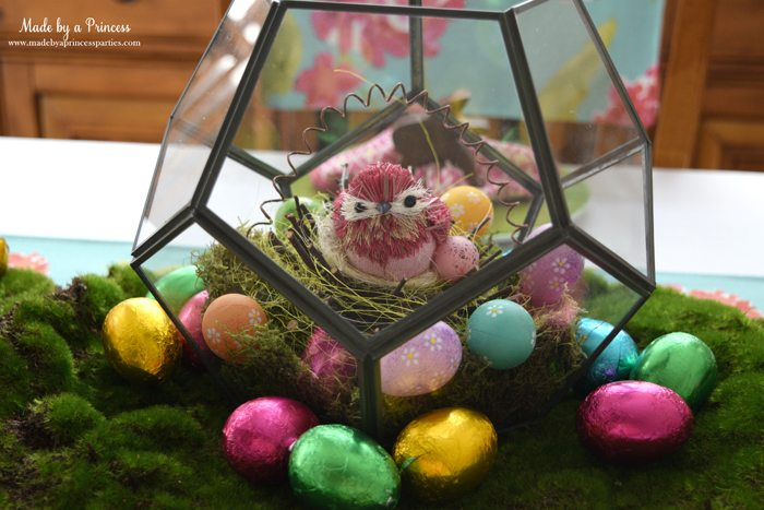 Easy Easter Entertaining Ideas terrarium with bird
