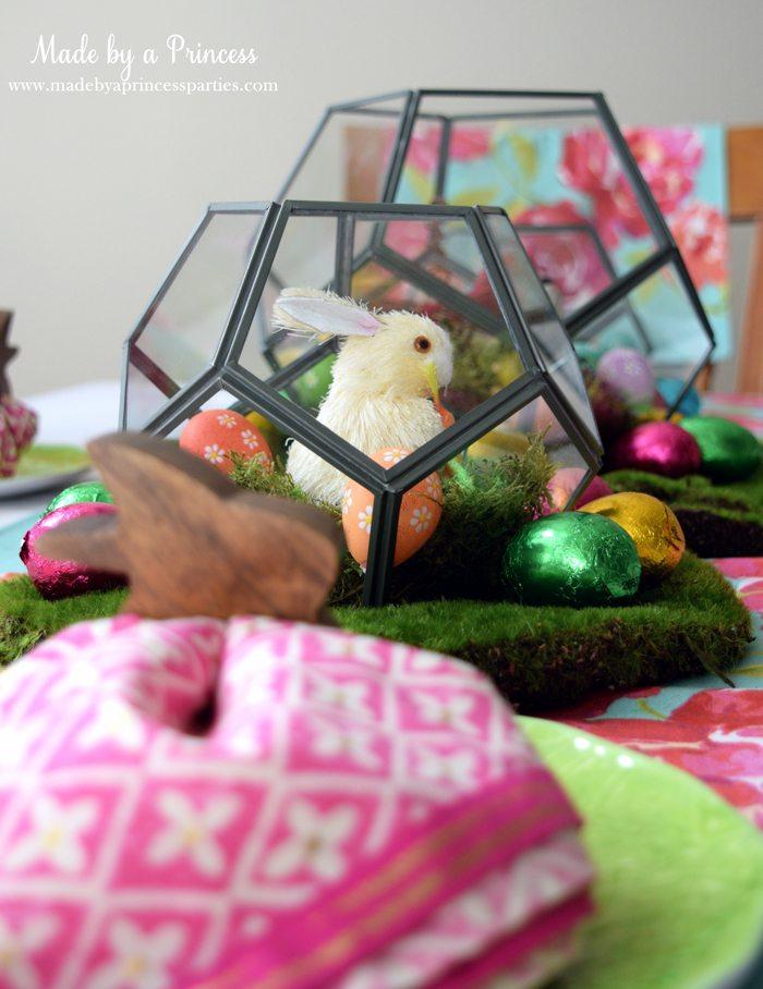 Easy Easter Entertaining Ideas white bunny in terrarium 2