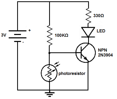 Dark-activated-switch-circuit