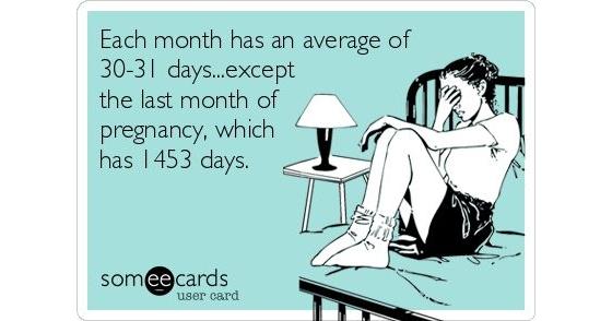 laatste maand zwangerschap