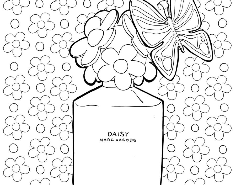 Coloriage : Daisy by Marc Jacobs I Mademoiselle Stef