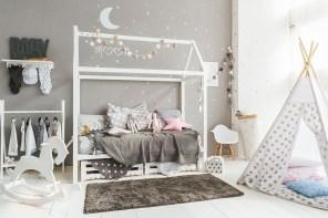 CHAMBRE ENFANT : futur nid douillet de Charlie avec lit cabane