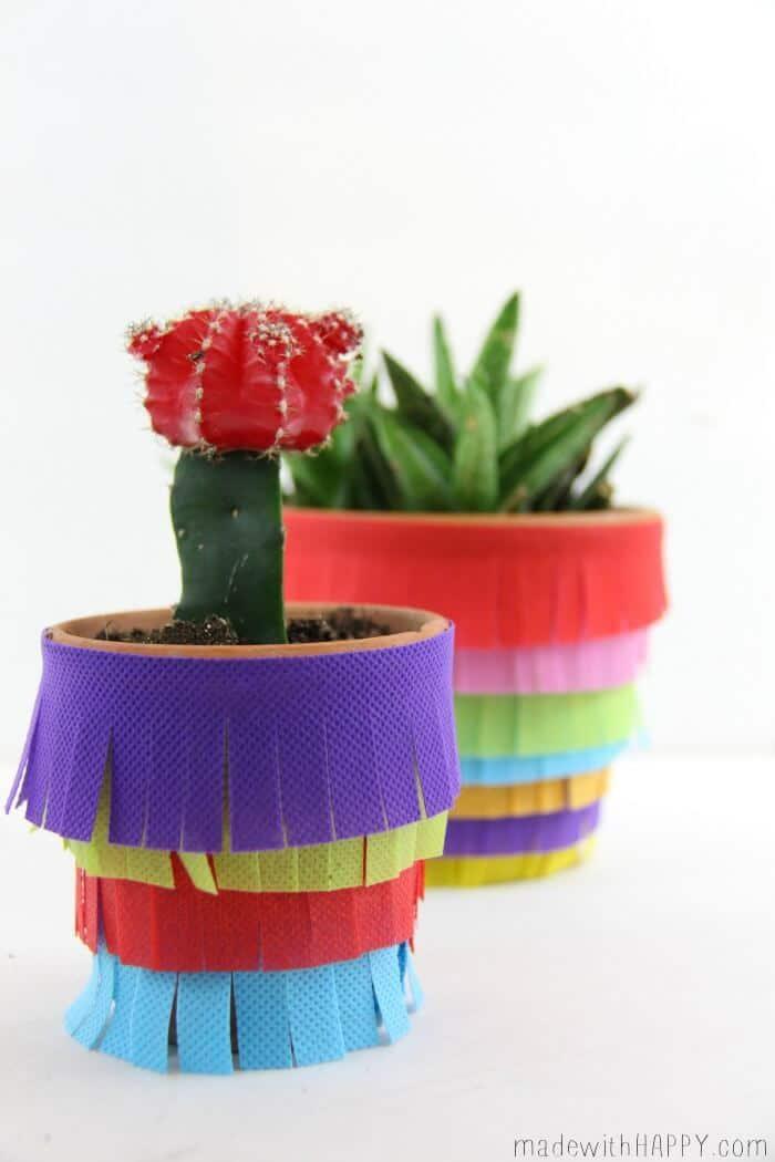 DIY Pinata Planter   Cinco De Mayo Decor DIY   Fiesta Decoration   www.madewithHAPPY.com