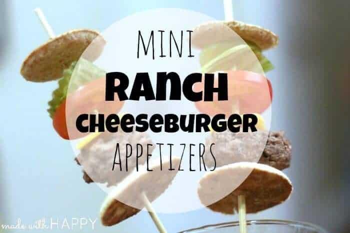 Dressing Recipe – Mini Ranch Cheeseburger Appetizers
