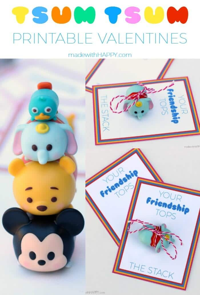 Tsum Tsum Printable Valentines  Free Printable Valentines  Disney