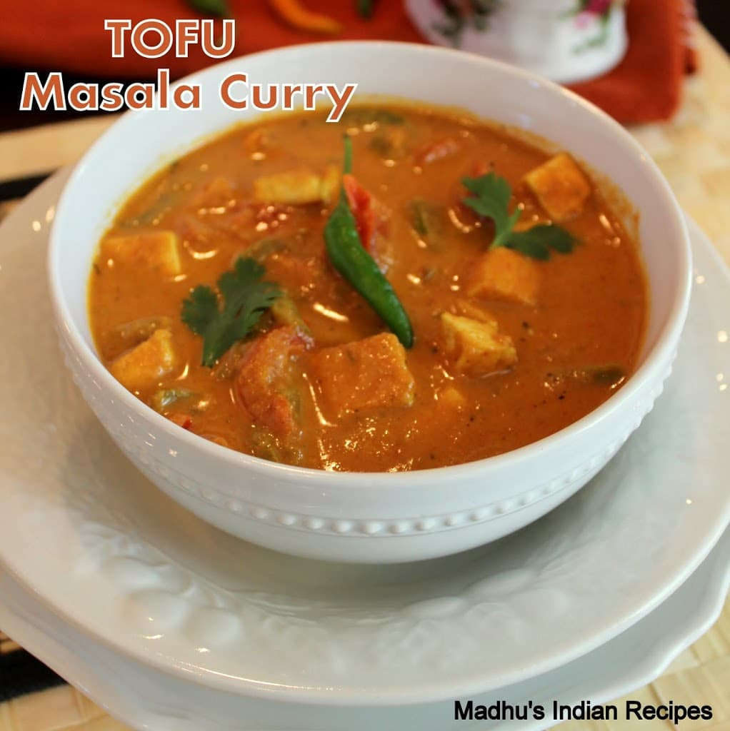 Tofu Masala Curry | Indian Tofu Recipes | Tofu Recipes