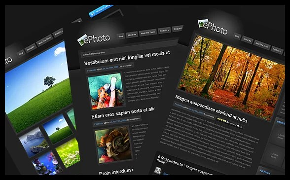 ePhoto WordPress Theme – Premium WordPress Theme for 7/03