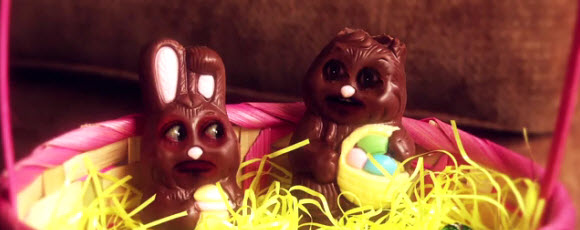 Two Chocolate Bunnies