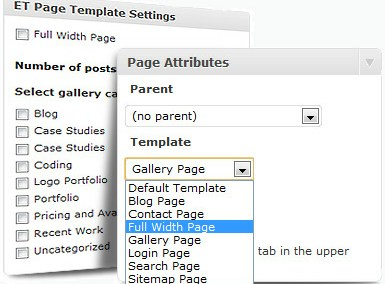 Page Templates feature