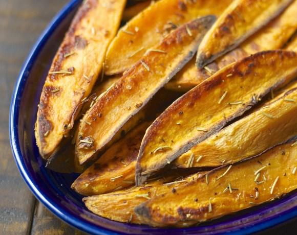 Rosemary Garlic Sweet Potato Wedges