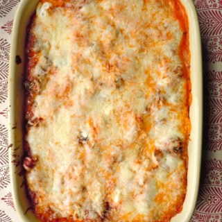 Gluten Free Roasted Garlic Lasagna