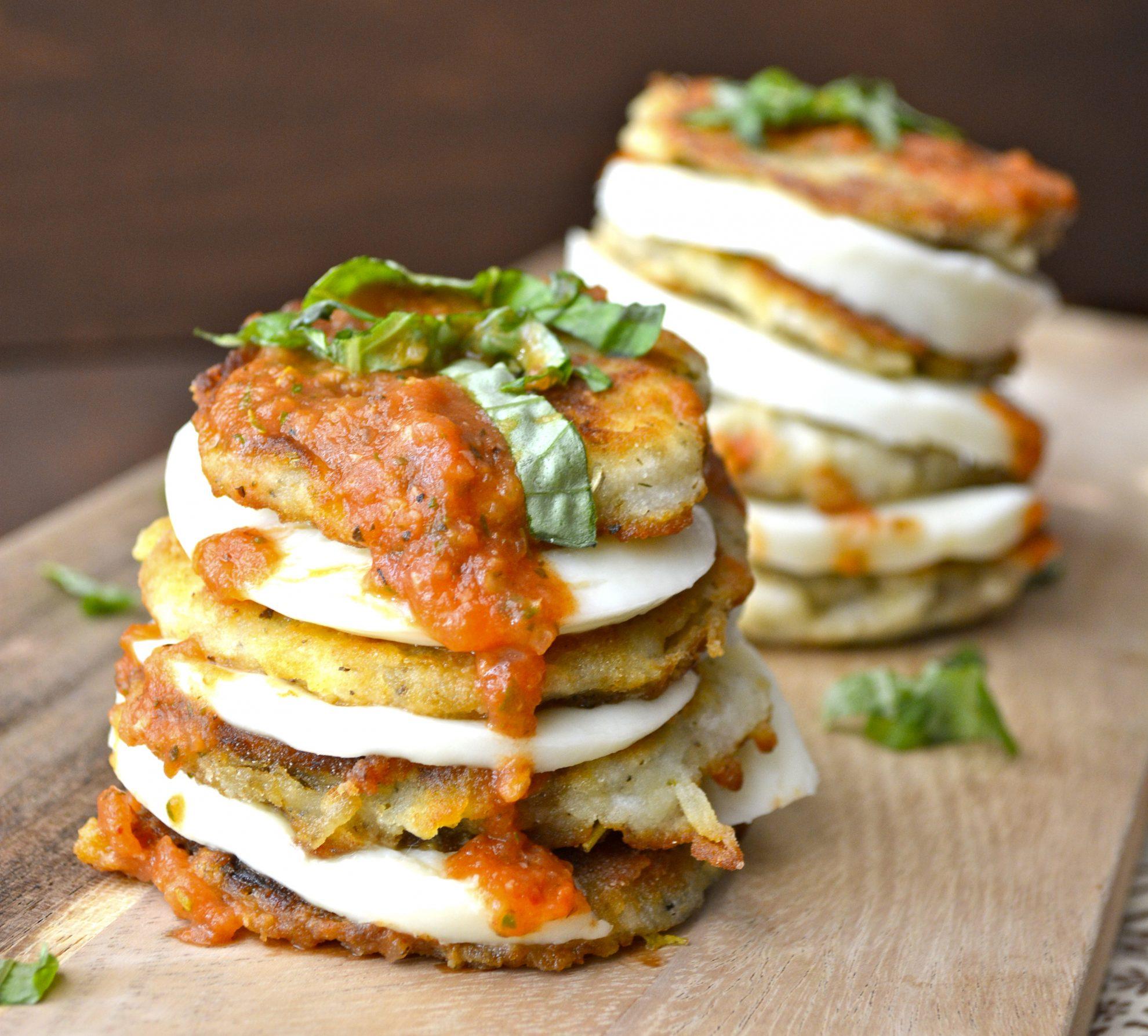 Eggplant Mozzarella StacksMaebells