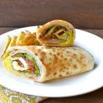 Bacon, Ham, and Egg Wrap with Honey Dijon Sauce