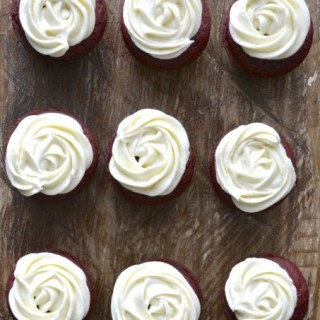 Gluten Free Red Velvet Cupcakes with Vanilla Bean Cream Cheese Frosting