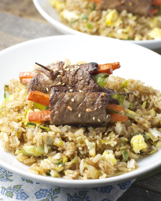 Asian Steak Rolls! Healthy, easy and loaded with flavor! www.maebells.com