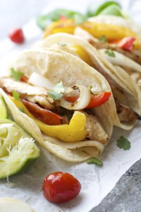 Jalapeño Lime Chicken Fajitas