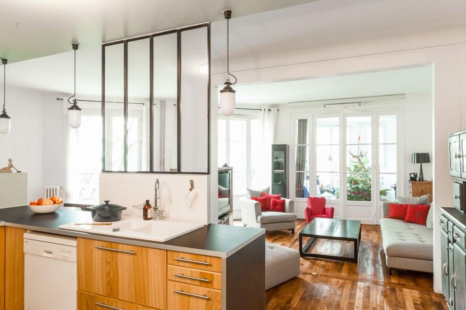 Appartement farjo coeur de cuisine ma ma architectes - Verriere separation cuisine salon ...
