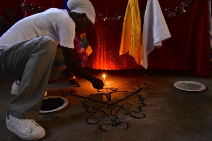 erzulie dantor veve haitian voodoo