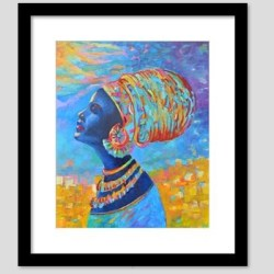black woman african painting3
