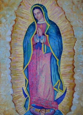 Our Lady of Guadalupe painting picture