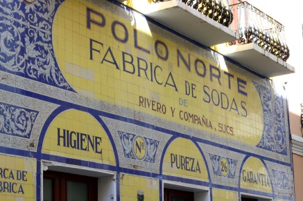 My Spanish generally sucks, but I think this is an old soft drink factory. Wonderful tilework.