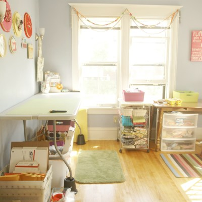 {I'm finally doing it ~ showing off my re-organized studio!}