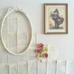 {creating a book page wall // DIY}
