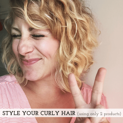 How I'm currently styling my wavy/curly hair.