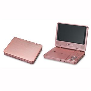 BLUEDOT(ブルードット) 7インチポータブルDVDプレーヤー BDP-1726 ピンク