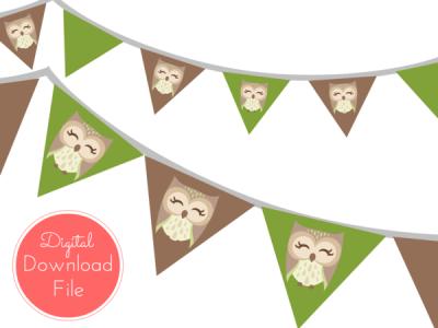 Owl Woodland Banner