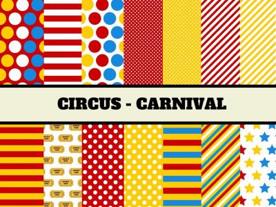 Circus Digital Paper