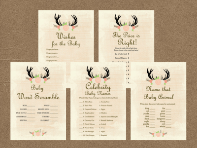 Rustic-Baby-Shower-Games-Printable-Package-Baby-Shower-Games-Download-Baby-Shower-Games-Price-is-Right-Country-Baby-Shower-Games-TLC21-antlers-woodland-forest-outdoor-burlap-deer-moose