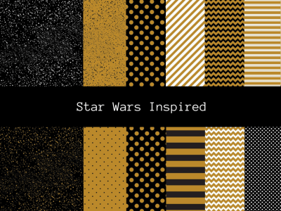 Star Wars Inspired Digital Papers