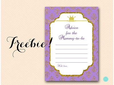 TLC110P-advice-for-mommy-card-purple-princess-baby-shower