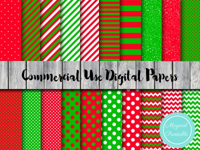 christmas digital papers, christmas scrapbook papers, santa digital papers, little helper
