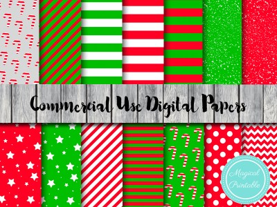 christmas red and green digital papers, instant download, xmas digital papers, santa digital paper
