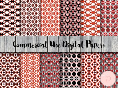 dp48 Folk Style Digital Paper, Bohemian Digital Papers, Tribal digital Papers, Commercial Use
