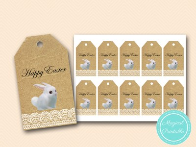 easter bunny thank you tags labels