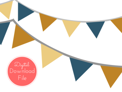 Fall Autumn Banner, Bunting, Pennant