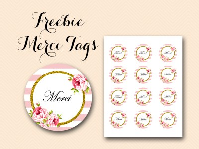 free merci thank you tags labels