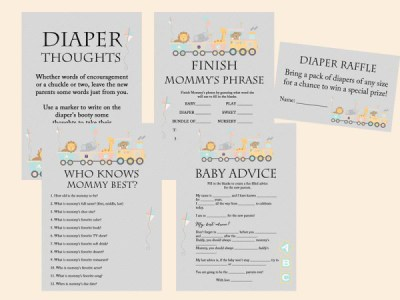 safari train baby shower games